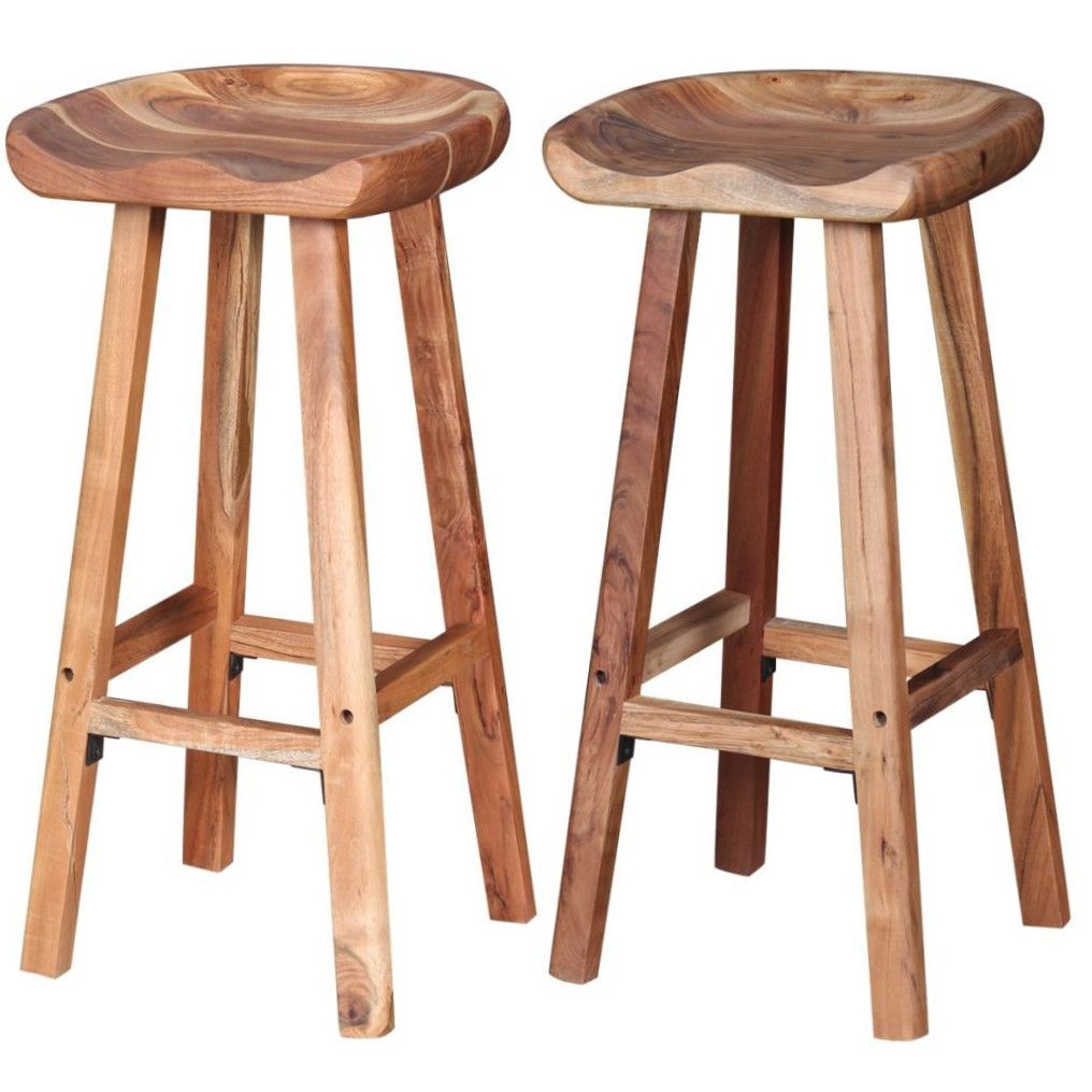 Details of the wooden bar stools.  this set of bar stools made of solid wood ... AORIPAJ