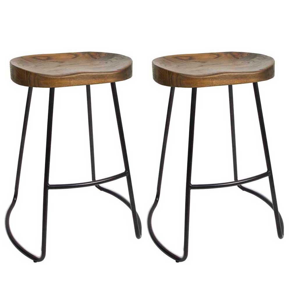 Wooden bar stool Georgia Wooden bar stool 65cm (set of 2) mahogany QZGSBCI