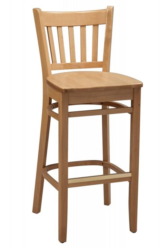 Wooden bar stool with backrest 3 RYNWNTI