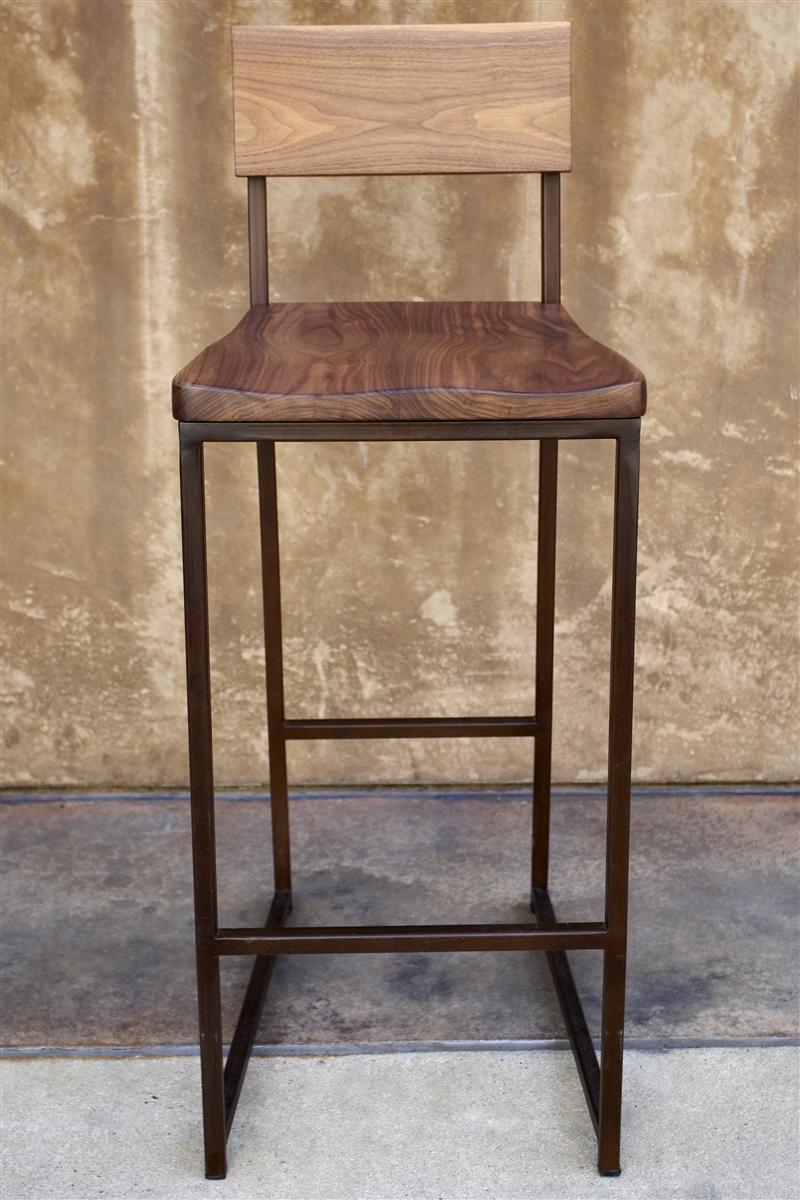 Wooden bar stool + metal counter or bar stool AOFQPXL