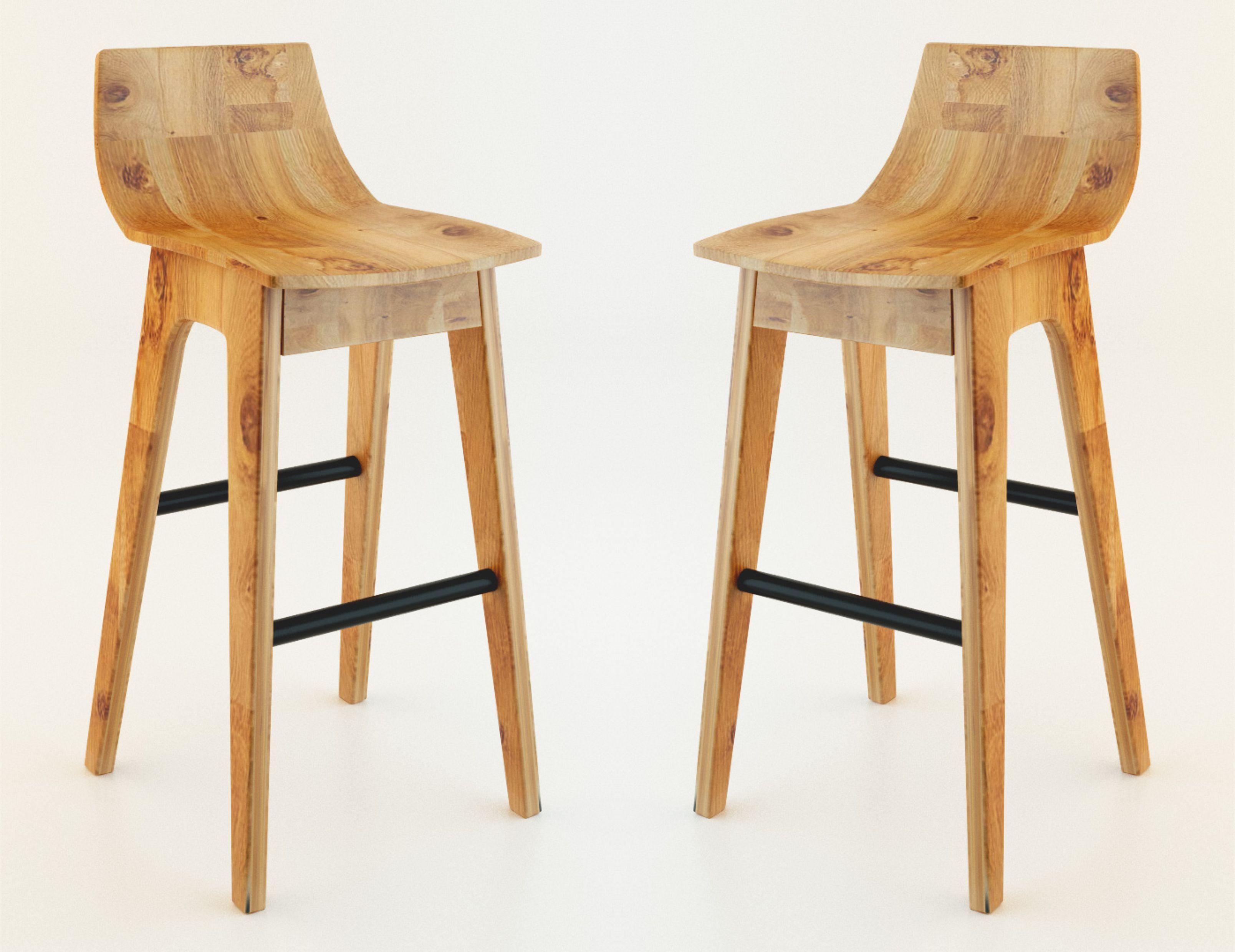 Wooden bar stool Wooden bar stool 3D model max 1 PGCBPEU