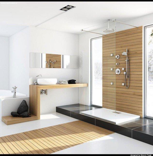 Wood Bathroom Furniture Ideas 18 exquisite contemporary wood bathroom design ideas ZUQCJMR