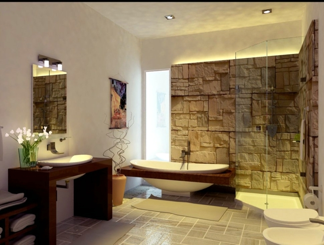 Ideas for bathroom furniture made of wood Bathroom design wood - rustic furniture and floor coverings in the ZPTDYEK spot