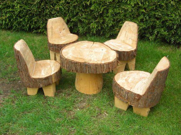 Wooden garden furniture Children's garden furniture set - no need for legs on the chairs, just NXEDGEF