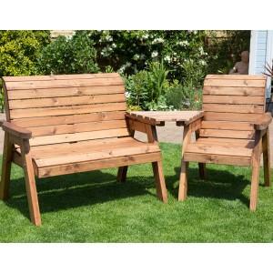 Wooden garden furniture Redlands 3-seater sloping garden set YIUTXNR