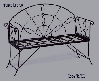 Wrought iron furniture for indoor use, wrought iron benches, cast outdoor furniture, wholesale antique French furniture UBKMCWB