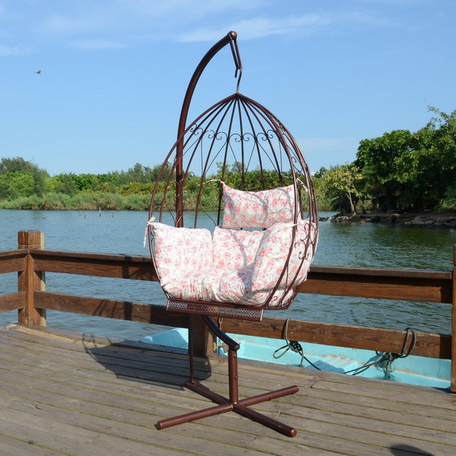 wrought iron furniture inside iron small lazy swing rocking chair swing hanging chair inside IFBZYPZ