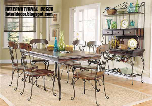 Wrought iron furniture for indoor use Wrought iron indoor furniture attractive dining room chairs made of iron with wrought iron CJDSBRR