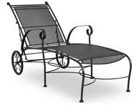 Wrought Iron Furniture Meadowcraft Alexandria Wrought Iron Chaise Lounge LGCKMBU