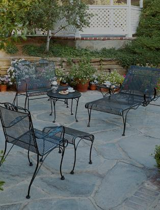 Wrought iron furniture for outdoor use Briar wood collection PKWPCZJ
