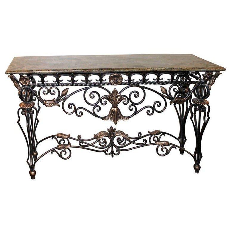 Wrought Iron Furniture Wrought Iron Foyer Table 2 YGGOIJI