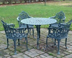 Wrought iron garden furniture vintage f85x in creative living ideas OGQEDJR