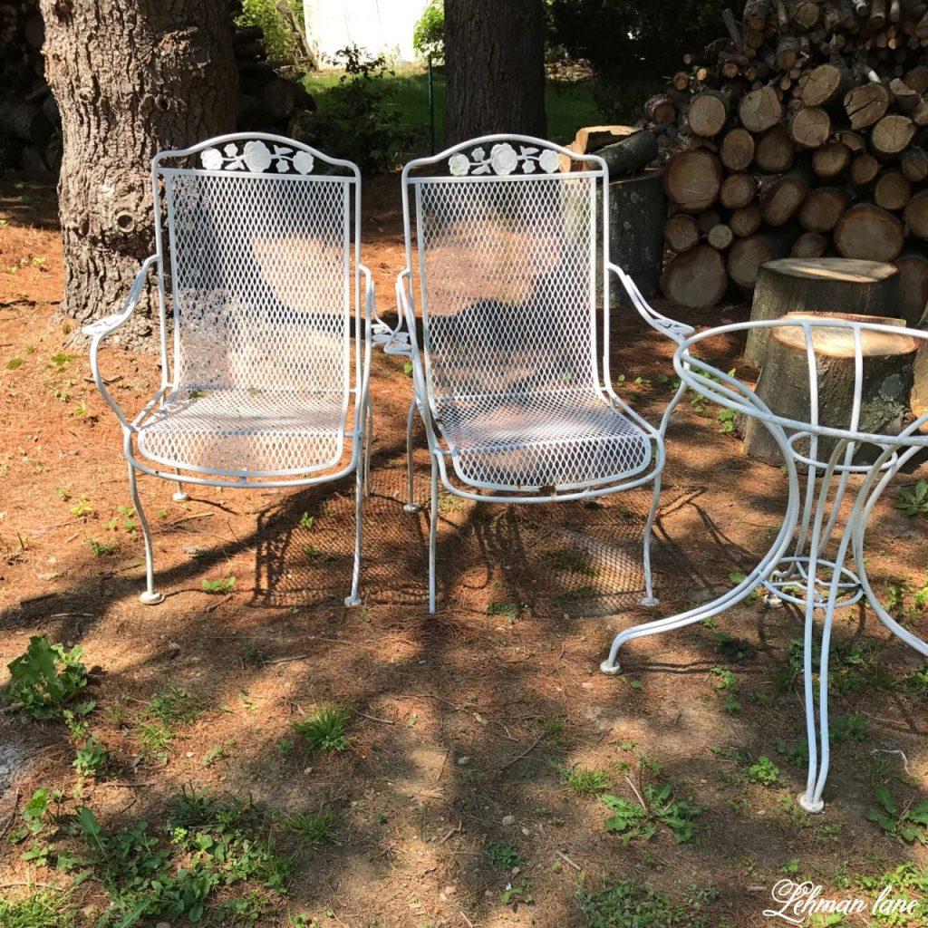 Wrought Iron Garden Furniture Vintage Spray Paint Garden Furniture - Before IRUEAXX