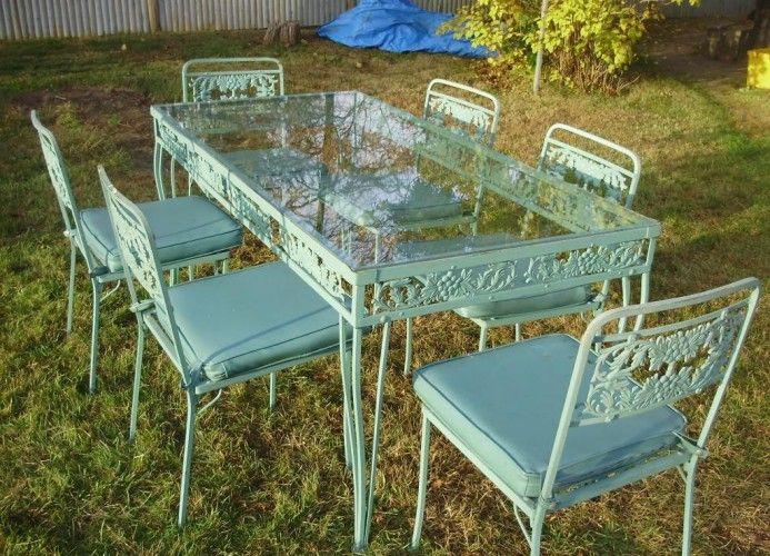 Wrought iron garden furniture Vintage used wrought iron garden furniture OUPNZRI