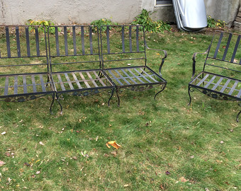 Wrought Iron Garden Furniture Vintage Wrought Iron Garden Furniture Footcaps LAOTUVH
