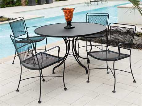 Wrought iron garden furniture Wrought iron dining sets VYCAOZQ