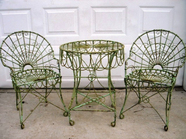 Wrought iron garden furniture Wrought iron garden furniture GUEVWFV