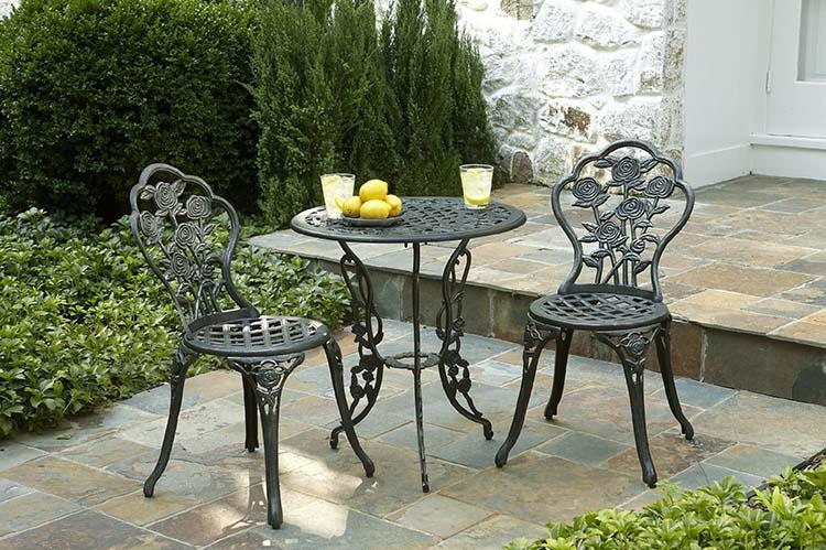 Wrought iron garden furniture Wrought iron garden furniture for an exquisite look - carehomedecor ZYOQBFL