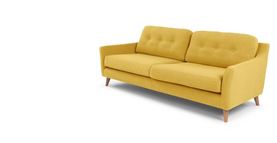 yellow sofa a 3-seater sofa in mustard yellow ICENOKL