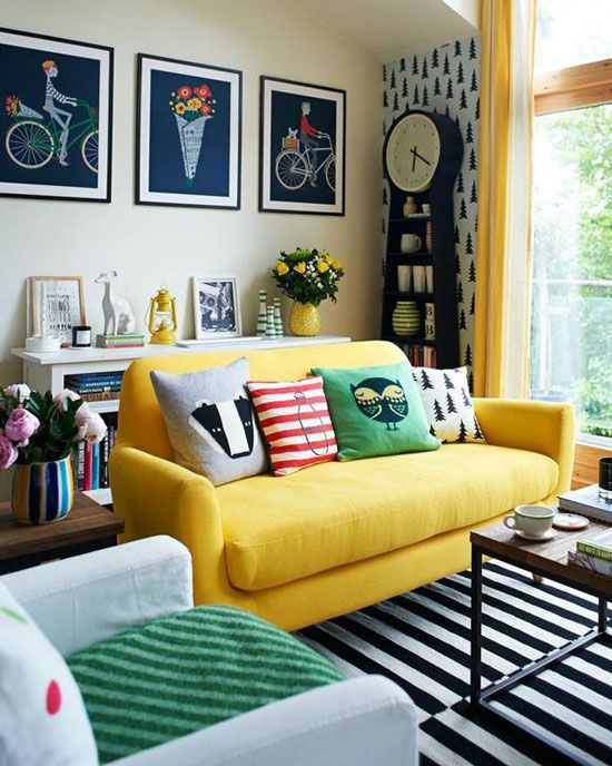 yellow sofa how to design a yellow living room sofa with and around KWEYBQL