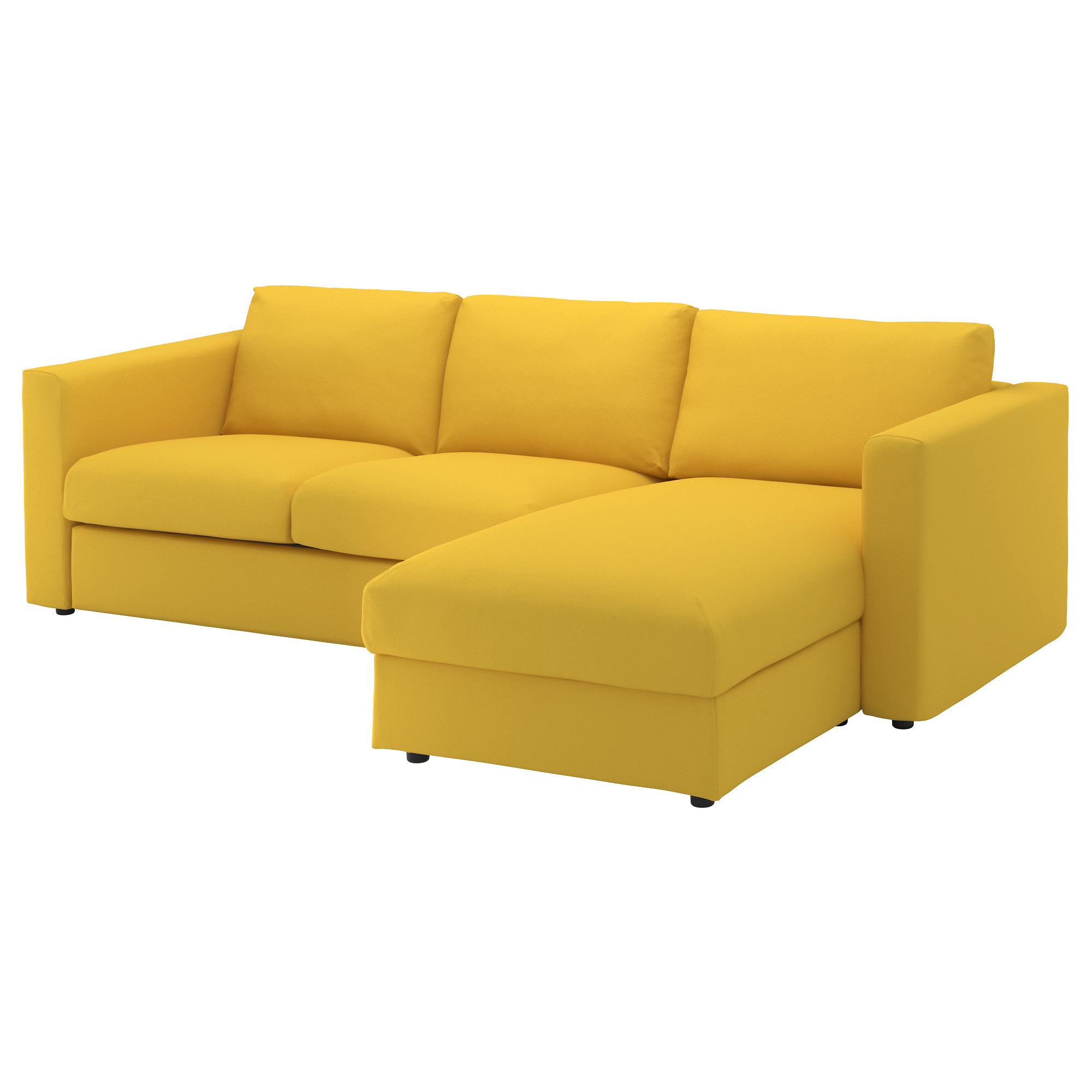 yellow sofa ikea viml 3-seat sofa the cover has been easy to keep clean since MRYLFIT