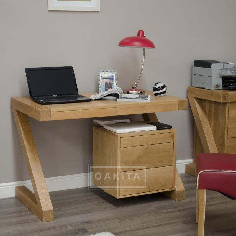 zurich oak small desk home office furniture within idea 4 RZTQXHI